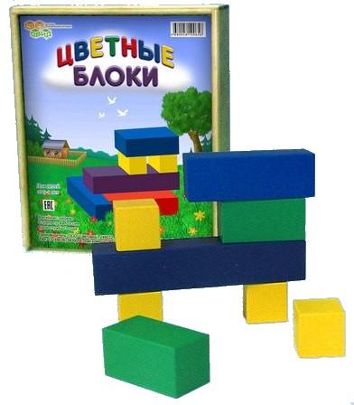 Световид Цветные блоки (фанерная коробка)