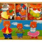 Три медведя деревянный пазл