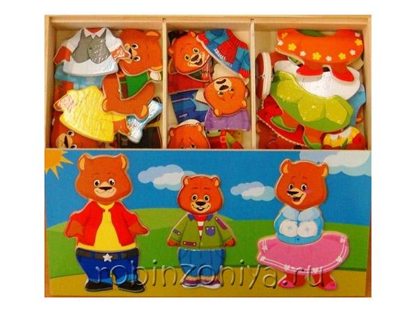 Пазл из дерева Три медведя купить с доставкой по России в интернет-магазине robinzoniya.ru.
