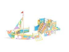 Детский игровой комплекс 3.091 Яхта графити Н=1200