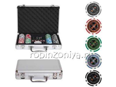 Набор для покера ULTIMATE, 200 фишек, металлический кейс
