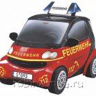 Сборная модель из картона Машина Smart Пожарный