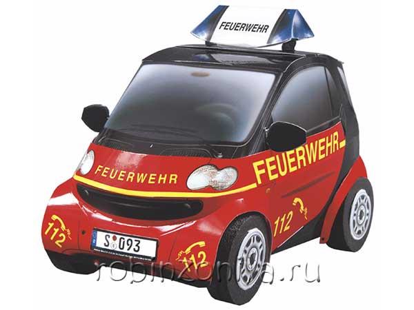 Сборная модель из картона Машина Smart купить в интернет-магазине robinzoniya.ru.