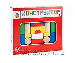 Конструктор деревянный Томик 65 деталей