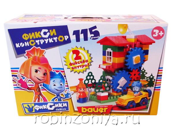 Конструктор Кроха Фиксики 115 деталей купить с доставкой по России в интернет-магазине robinzoniya.ru.