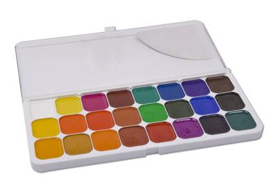Акварель Классика 24 цвета купить в интернет-магазине robinzoniya.ru.