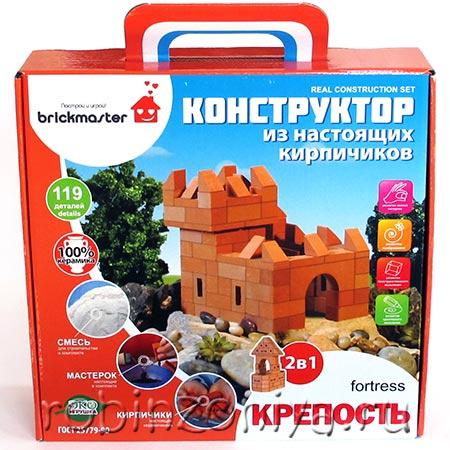 Конструктор из настоящих кирпичиков Крепость купить в интернет-магазине robinzoniya.ru.