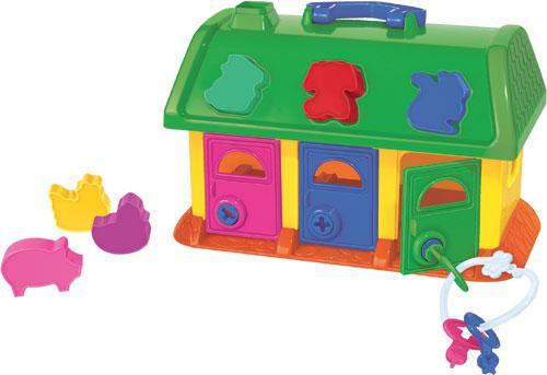 Сортер домик для зверей Полесье в сетке купить в интернет-магазине robinzoniya.ru.