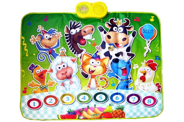 Музыкальный игровой коврик Вечеринка зверей купить в интернет-магазине robinzoniya.ru.