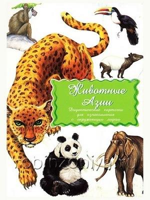 Дидактические карточки Животные Азии