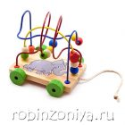 Лабиринт каталка Слоник,Мир деревянной игрушки