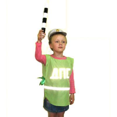Костюм детский Полицейский ДПС (накидка и шапочка)