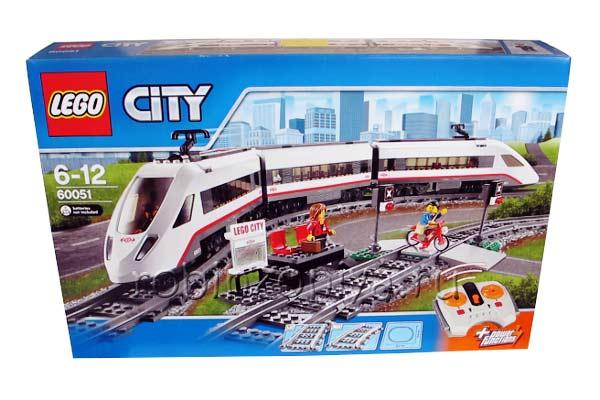 Конструктор Лего Сити 60051 Скоростной поезд купить с доставкой по России в интернет-магазине robinzoniya.ru.