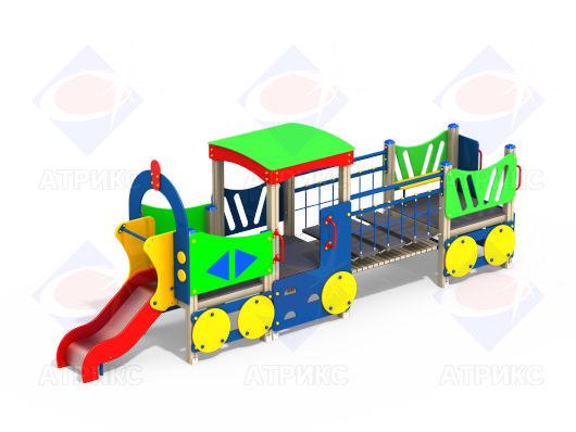 Паровоз МФ 4.04 для детской площадки купить в Воронеже в интернет-магазине robinzoniya.ru.