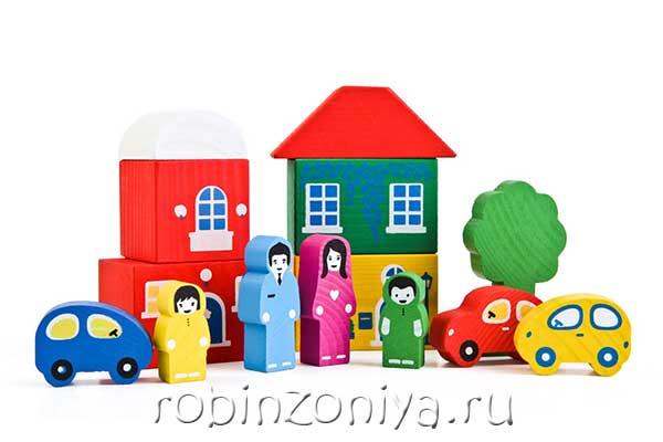 Деревянный конструктор Томик Цветной городок зеленый купить можно тут.