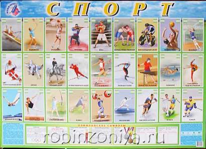 Детский плакат Спорт купить в интернет-магазине robinzoniya.ru.
