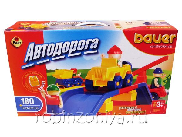 Конструктор Кроха Автодорога 160 деталей купить с доставкой по России в интернет-магазине robinzoniya.ru.