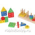 Пирамидка Геометрик,Краснокамская игрушка