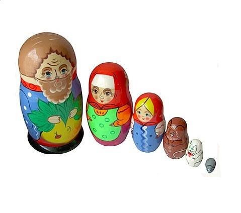 Игрушка матрешка Репка купить в интернет-магазине robinzoniya.ru.