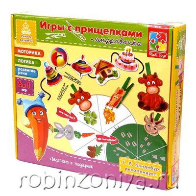 Игра с прищепками и шнурочками Vladi Toys