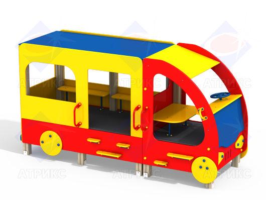 Автобус МФ 4.025 для детской площадки купить в Воронеже в интернет-магазине robinzoniya.ru.