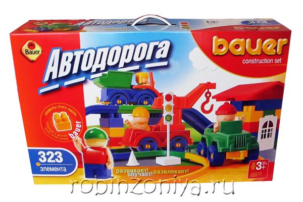 Конструктор Кроха Автодорога 323 деталей купить с доставкой по России в интернет-магазине robinzoniya.ru.