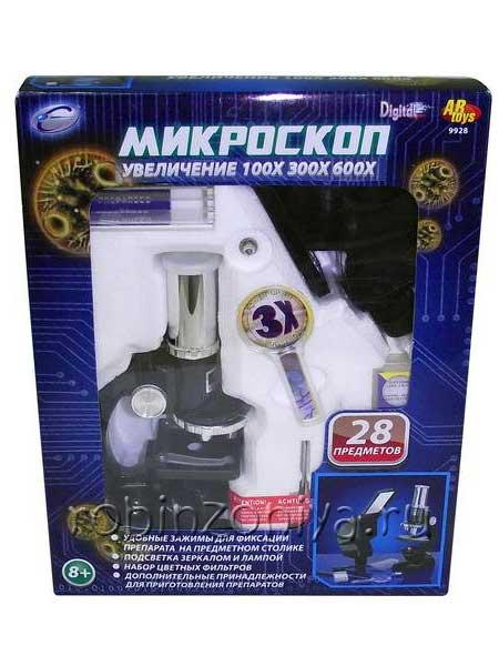 Детский микроскоп с увеличением 100х300х600х купить с доставкой по России в интернет-магазине robinzoniya.ru.