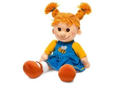 Мягкая поющая кукла Майя в платье с пчелкой, Lava Toys
