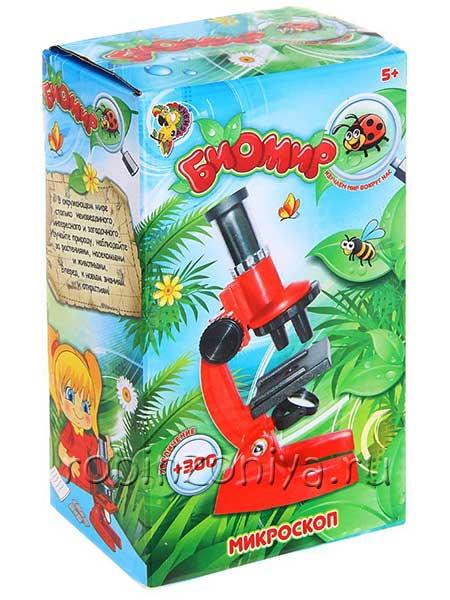 Детский микроскоп Биомир с лупой купить можно тут с доставкой по России в интернет-магазине robinzoniya.ru.