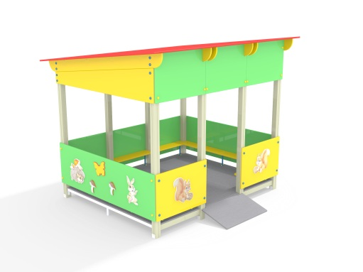 Веранда МФ 5.072 для детской площадки купить в интернет-магазине robinzoniya.ru.