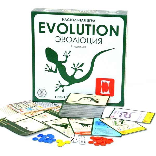 Настольная игра Эволюция купить в интернет-магазине robinzoniya.ru.