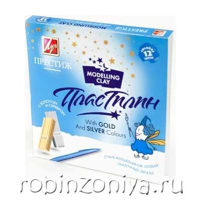 Пластилин мягкий Престиж, 12 цветов купить можно зв интернет-магазине robinzoniya.ru.