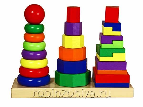 Геометрические пирамидки Viga купить в интернет-магазине robinzoniya.ru.