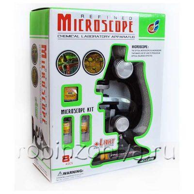 Микроскоп для детей на батарейках (до 450х)