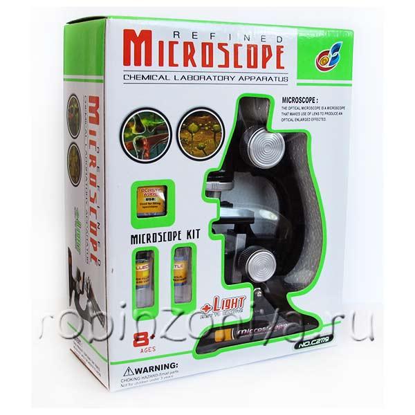 Недорогой детский микроскоп на батарейках