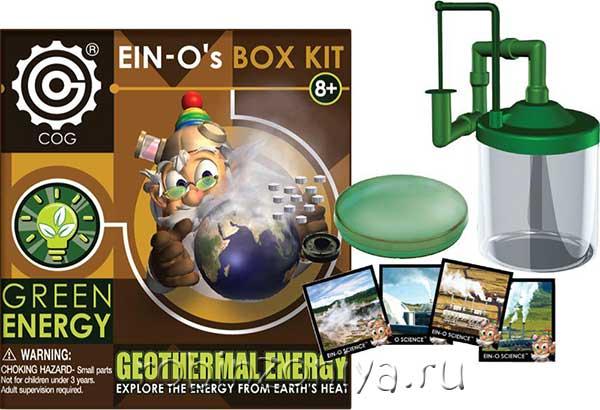 Набор для исслелдований Профессор Эйн Геотермальная энергия купить в интернет-магазине robinzoniya.ru.