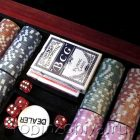 Набор для покера Wood, 500 фишек (деревянный кейс)
