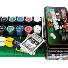 Набор для игры в покер Holdem Light, 200 фишек с номиналом