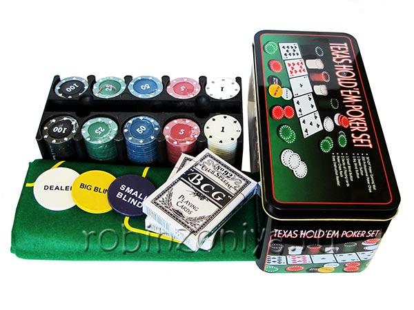 Набор для покера Holdem Light, 200 фишек купить в Воронеже в интернет-магазине robinzoniya.ru.
