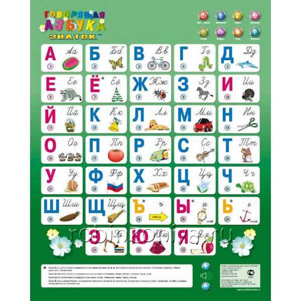 Звуковой плакат Говорящая азбука купить в интернет-магазине robinzoniya.ru.