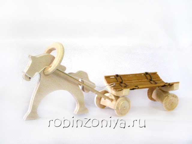 Конь с телегой под роспись купить купить в интернет-магазине robinzoniya.ru.