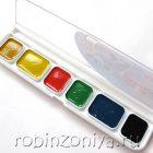 Краски акварельные 6 цветов без кисти Zoo