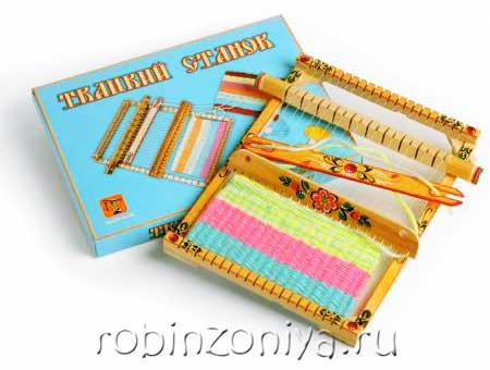 Расписной ткацкий станок для детей купить в интернет-магазине robinzoniya.ru.