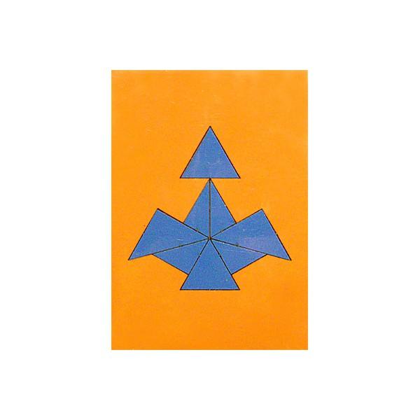 Головоломка из фанеры Треугольники купить в интернет-магазине robinzoniya.ru.