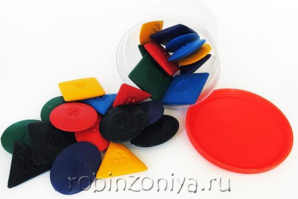 Мелки восковые Геометрические фигуры купить в интернет-магазине robinzoniya.ru.
