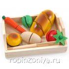 Готовим завтрак малый,разрезные овощи, продукты