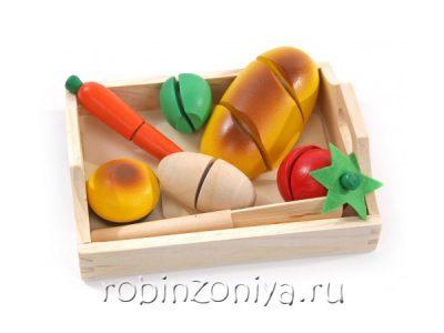 Готовим завтрак малый, разрезные овощи, продукты