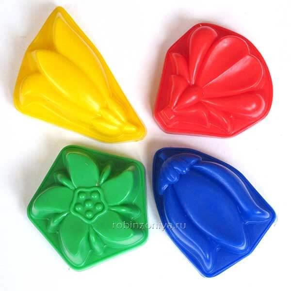Набор формочек Разноцветные купить с доставкой по России в интернет-магазине robinzoniya.ru.