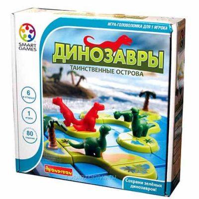 Игра логическая BONDIBON Динозавры Таинственные острова