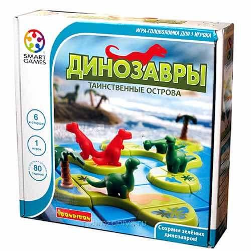 Игра логическая BONDIBON Динозавры. Таинственные острова можно купить в интернет-магазине robinzoniya.ru.